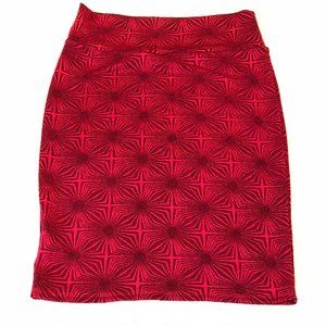 LuLaRoe L Cassie Pencil Skirt - Red
